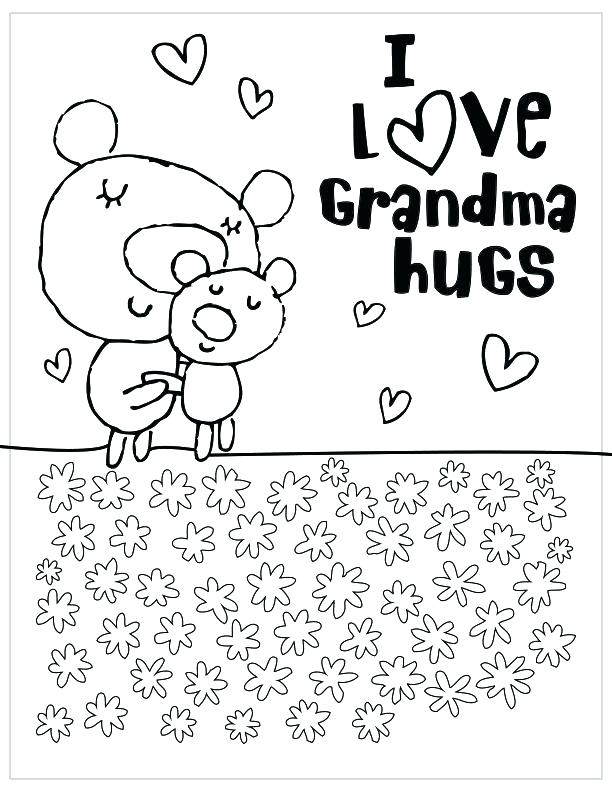 612x792 Grandparents Day Printable Coloring Pages Grandma Best Happy