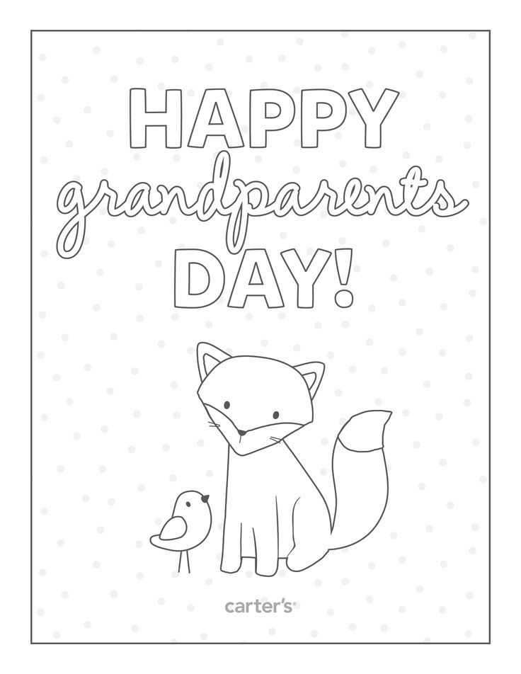 736x952 Grandparents Day Coloring Pages