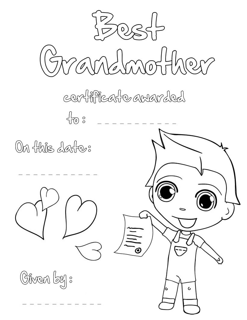 820x1060 Grandparents Day Coloring Pages