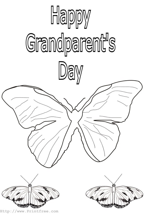 602x880 Coloring Pages For Grandparents Day, Happy Grandparents Day