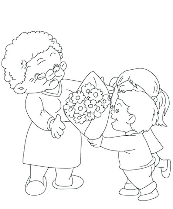570x687 Grandparents Day Coloring Pages Free Valentines I Love You Much