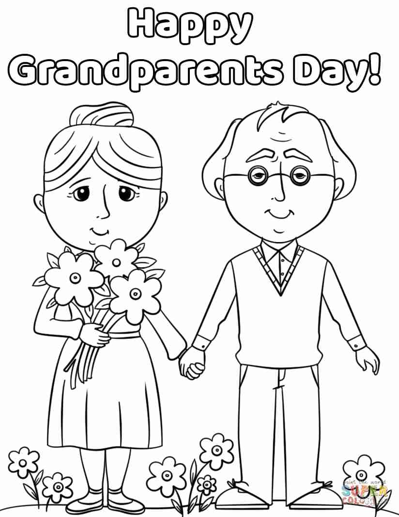 824x1066 Happy Grandparents Day Coloring Page Free Printable Pages