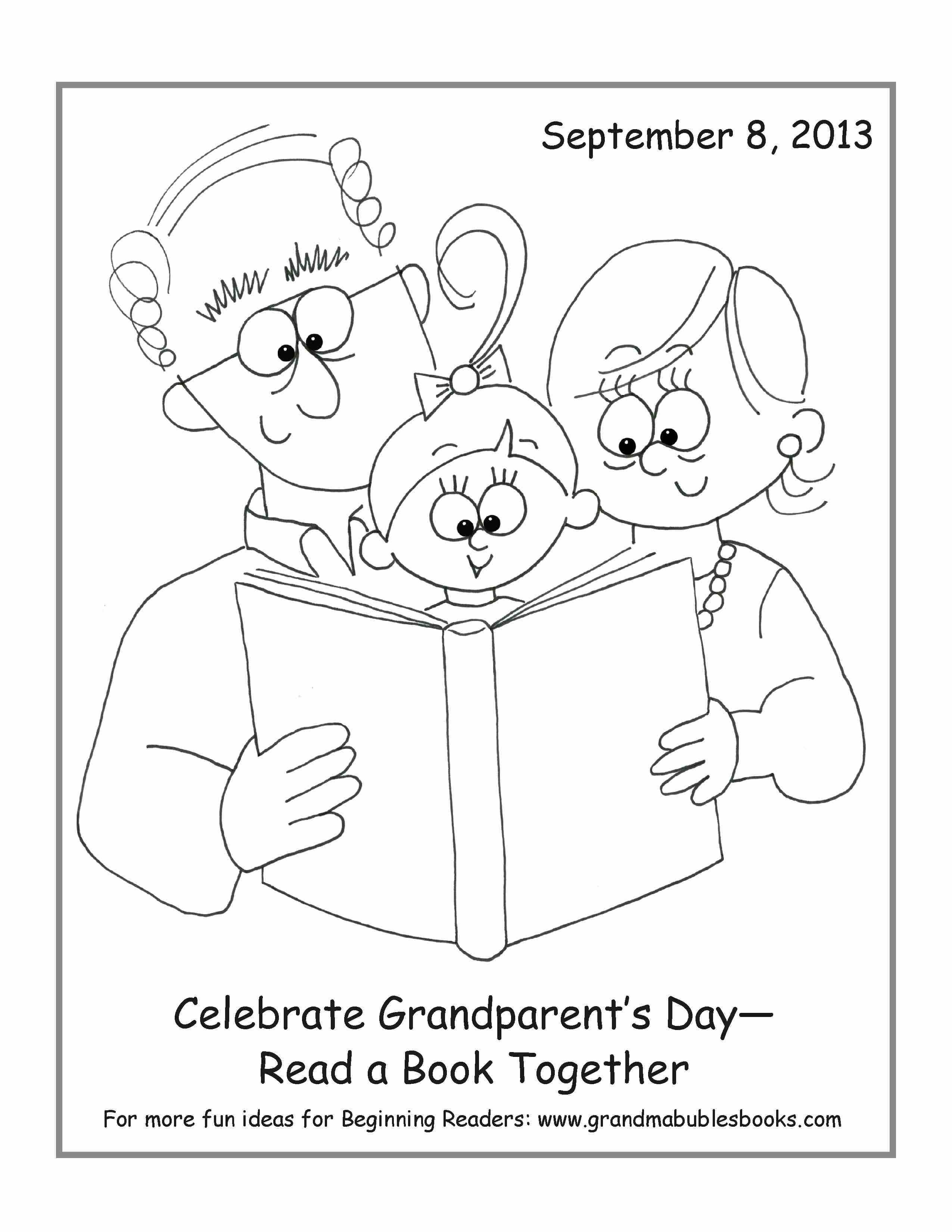2550x3300 Happy Grandparents Day Coloring Pages Free Printable Fine