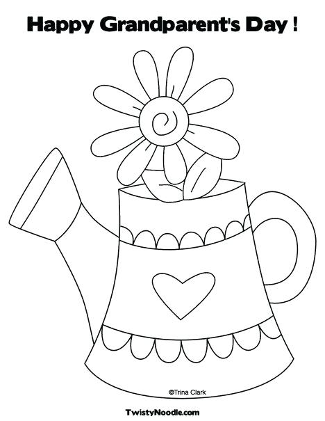 468x605 Happy Grandparents Day Coloring Pages Happy Grandparents Day