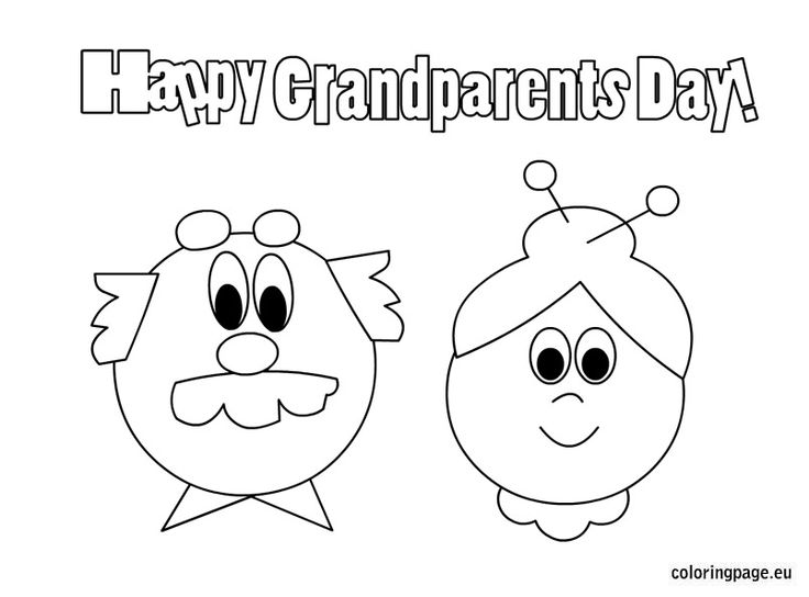736x544 Best Grandparents Day Coloring Page Print Color Craft Free