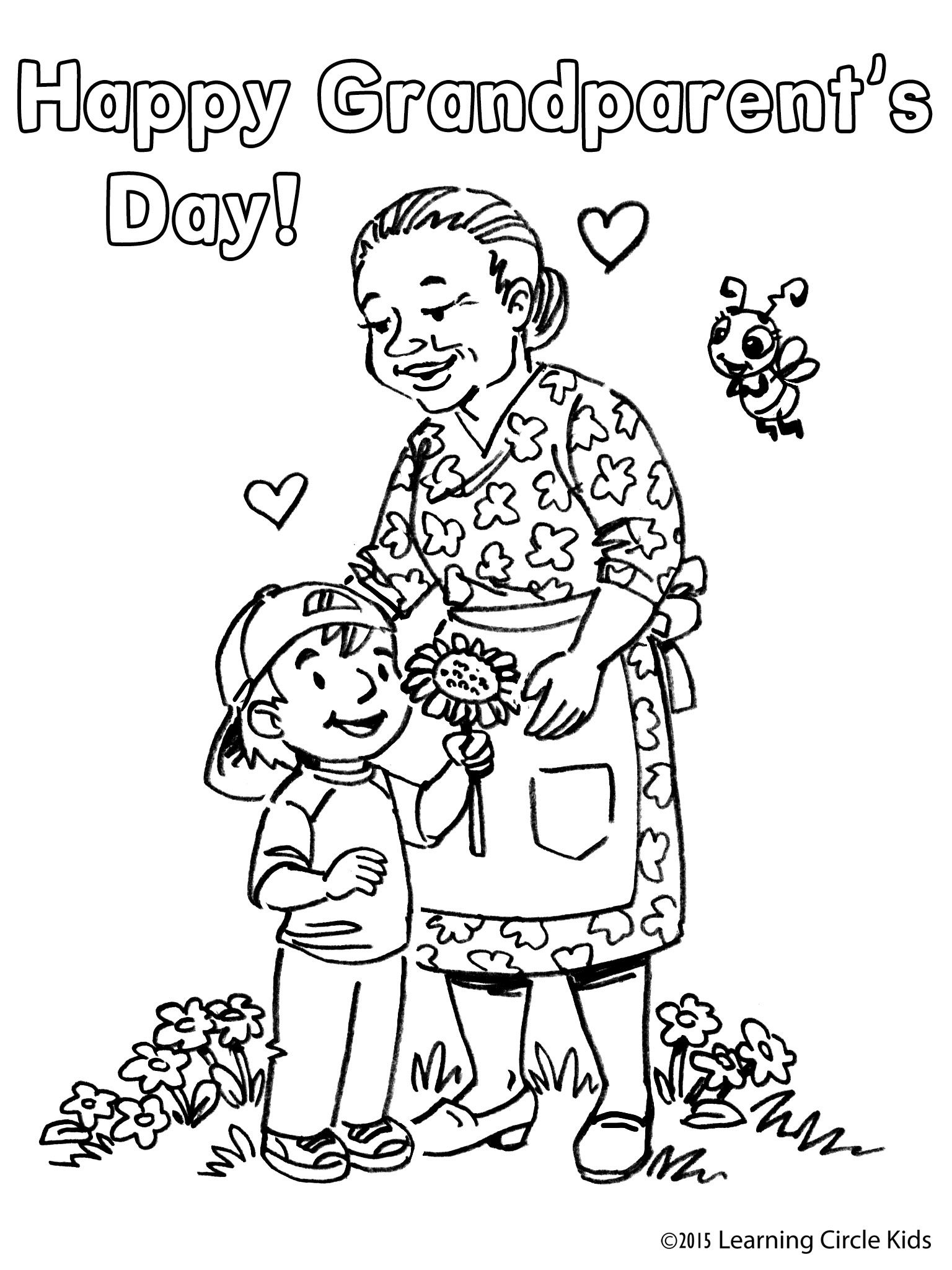 1536x2048 Free Coloring Page From For Grandparent's Day