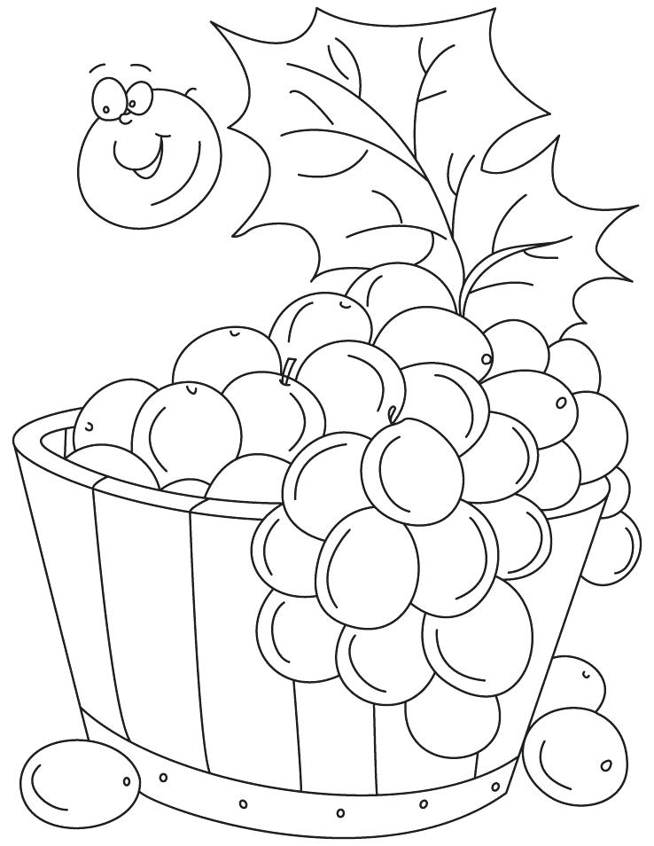 738x954 Grapes Coloring Page Grapes In Tub Coloring Pages Grape Vine