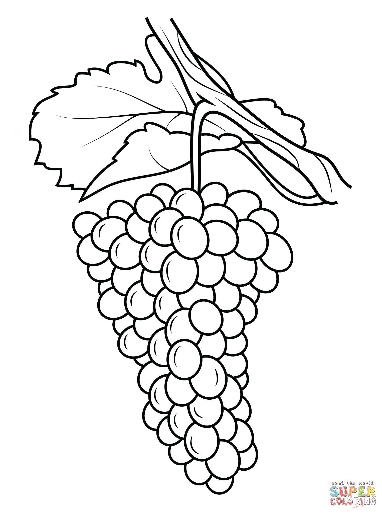 1526x2046 Grapes Coloring Page Pages Free Throughout