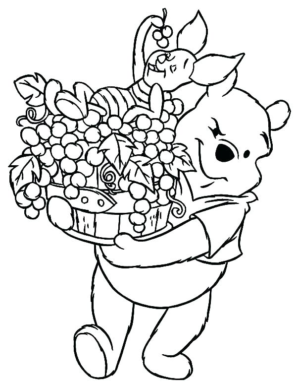 600x776 Grapes Coloring Pages Grapes Coloring Pages Piglet Coloring Page