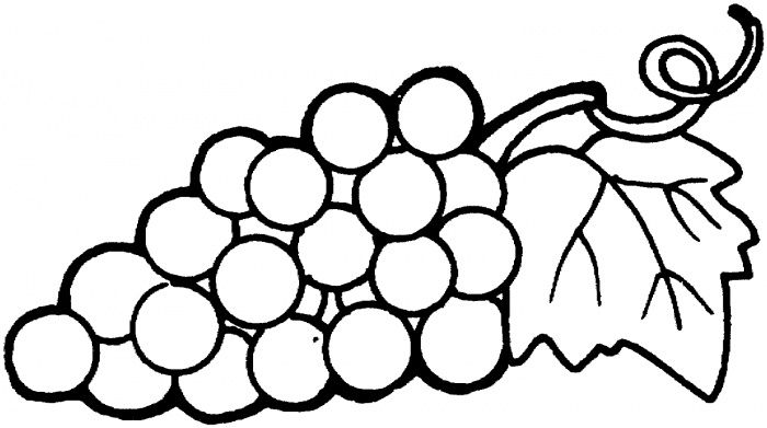 700x391 Grape Coloring Page, Pictures