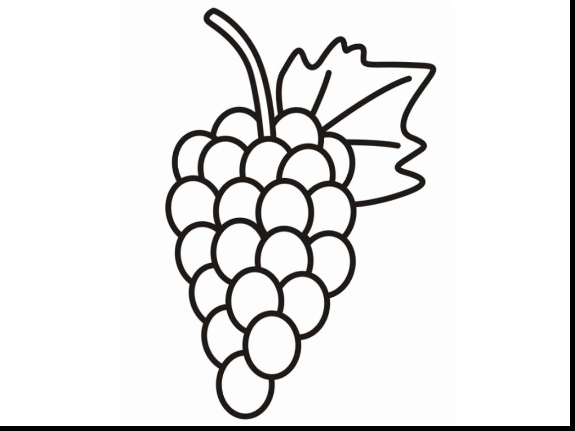 1126x844 Grapes Coloring Page Pages Grape