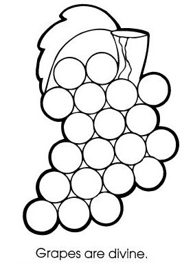 265x384 Free Grapes Coloring Pages Team Colors