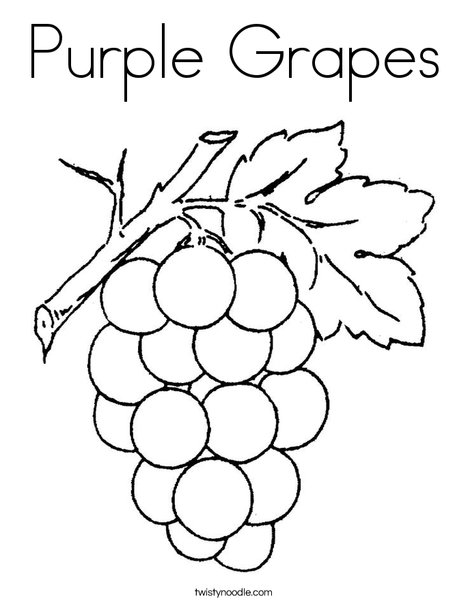 468x605 Purple Grapes Coloring Page