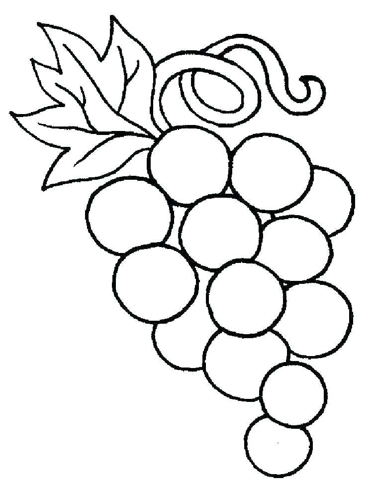 750x1000 Grape Coloring Page Grapes Coloring Pages Grape Vine Colouring