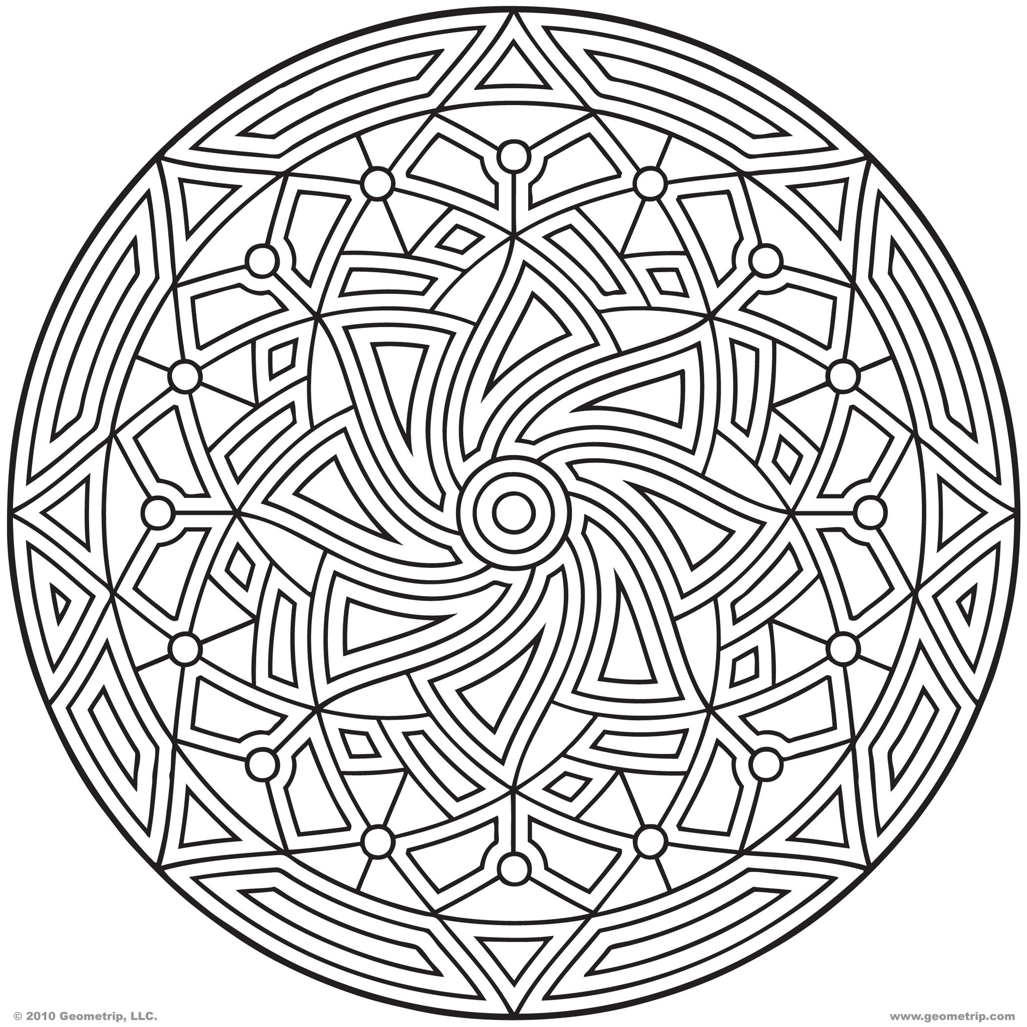 2100x2100 Printable Geometric Coloring Pages
