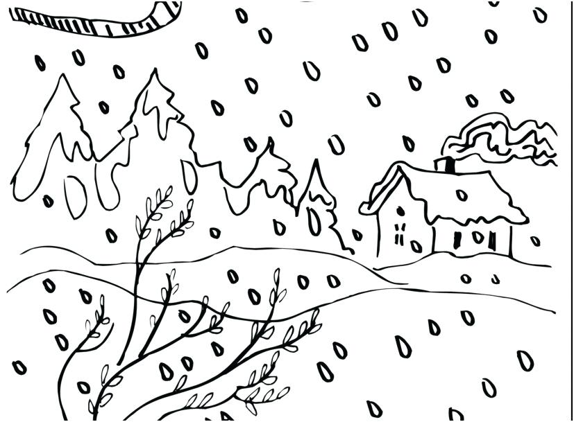 827x609 Snow Coloring Page Snowflake Coloring Page Graphic Unbelievable