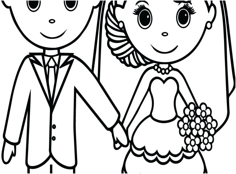 827x609 Wedding Coloring Book Printable Wedding Coloring Pages Graphic