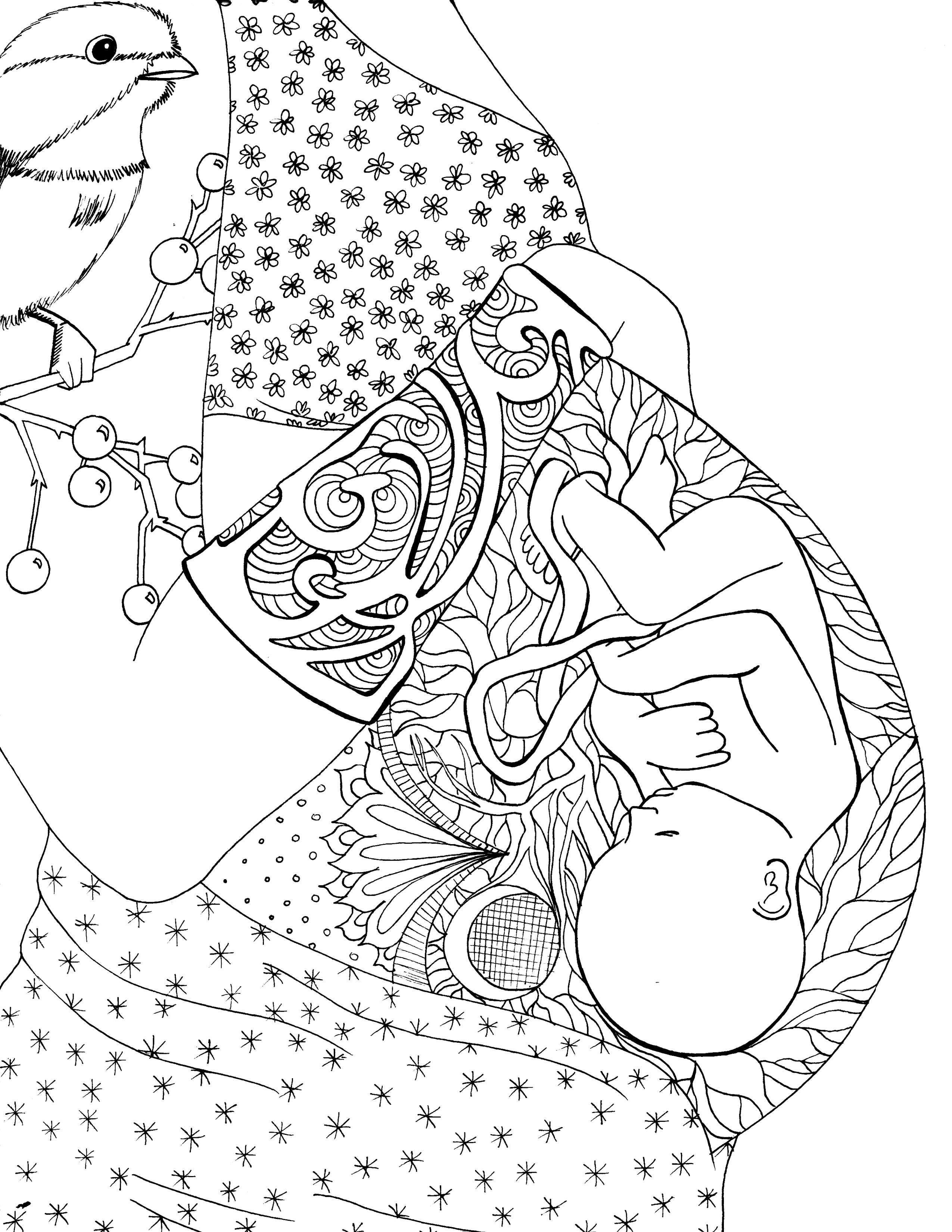 2550x3300 Graphic Coloring Pages With Pregnant Women