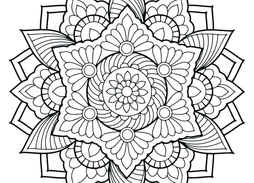 879x635 Design Coloring Pages Printable Geometric Design Colouring