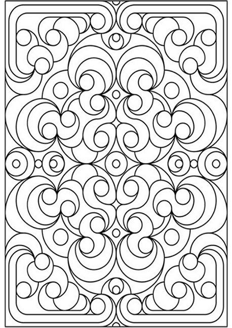 458x646 Geometric Design Colouring Pictures Stained Glass Colouring Pages