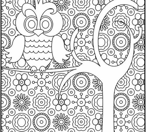 500x450 Graphic Design Coloring Pages Owl Coloring Page Projects