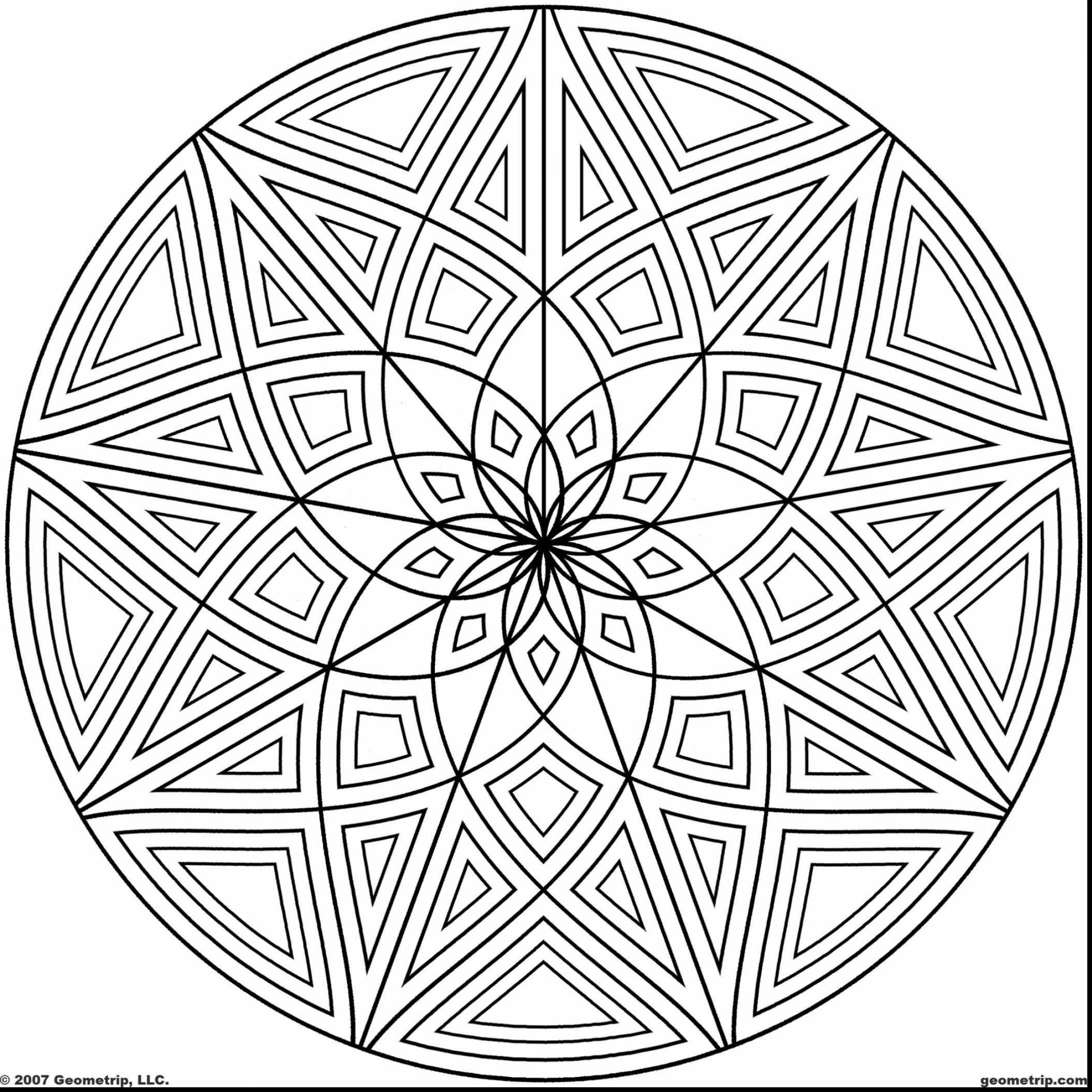 2310x2310 And Cool Geometric Design Coloring Pages Designs