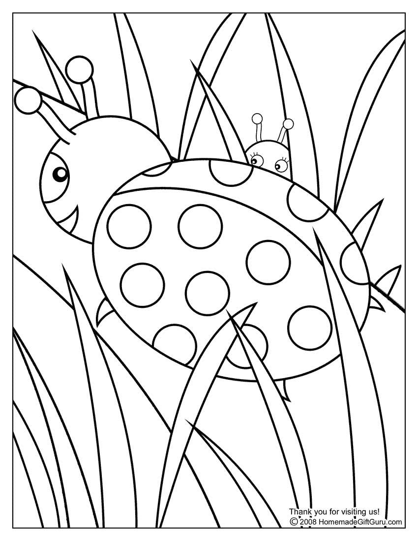 850x1100 Ladybug Coloring Page