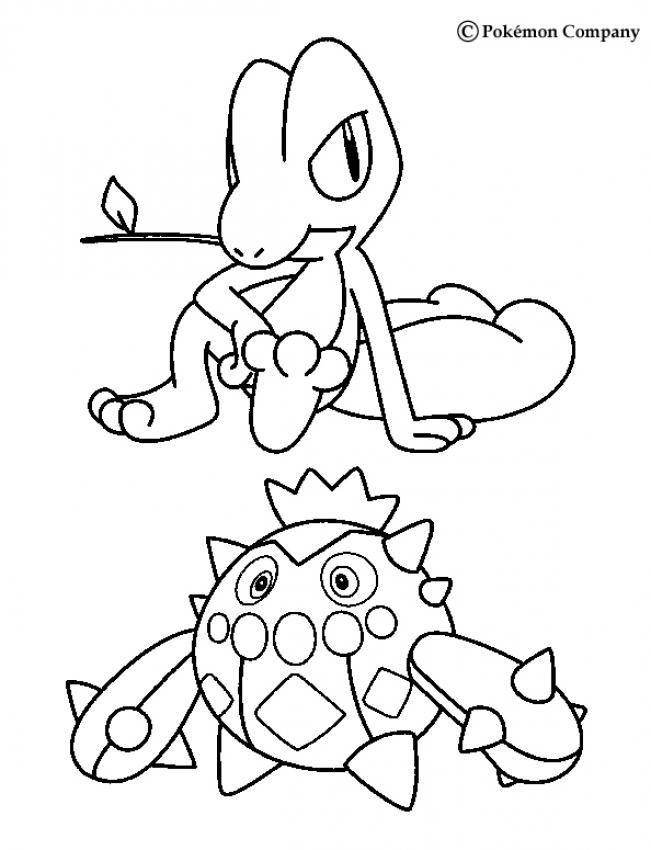 651x850 Treecko And Cacnea Pokemon Coloring Page More Grass Pokemon