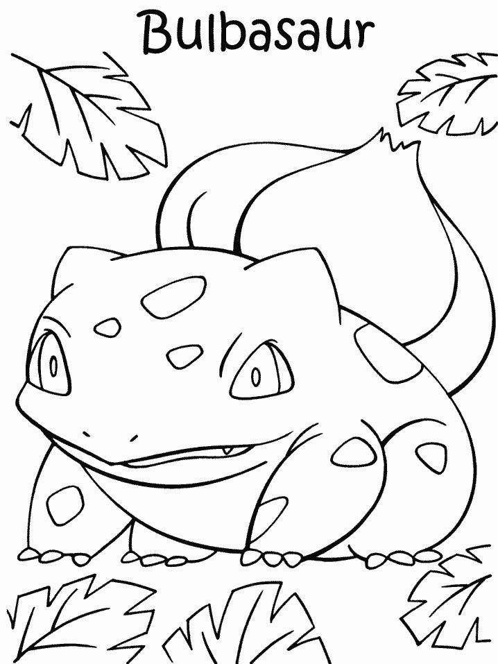 Grass Type Pokemon Coloring Pages