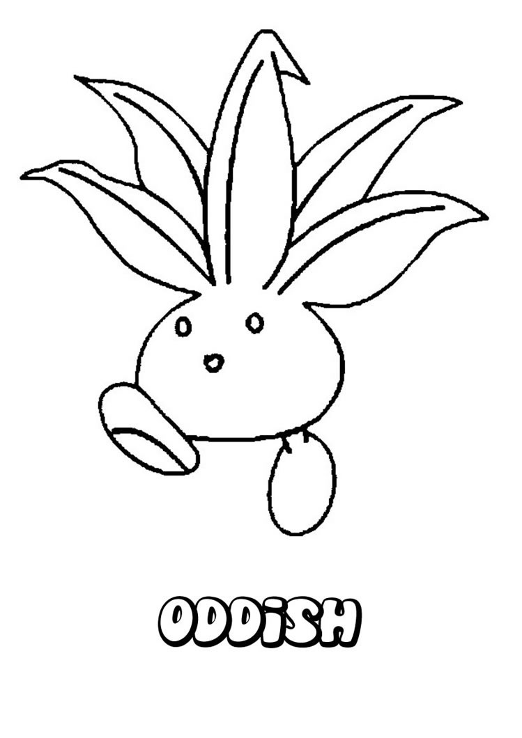 749x1060 Oddish Coloring Pages