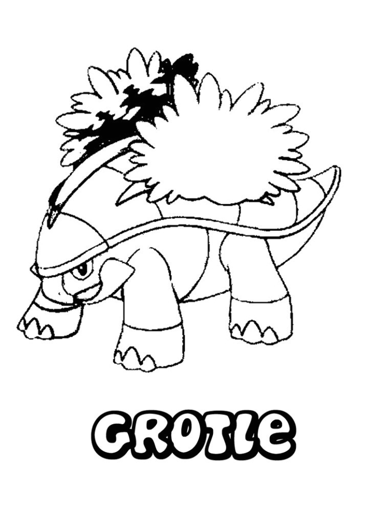 723x1024 Beautiful Grotle Pokemon Coloring Pages Coloring Ws
