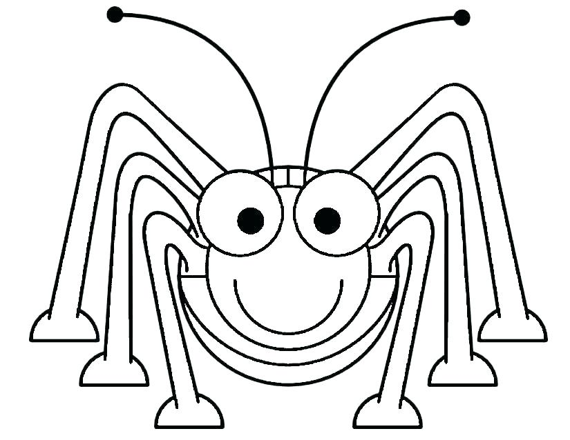 825x638 Grasshopper Coloring Page