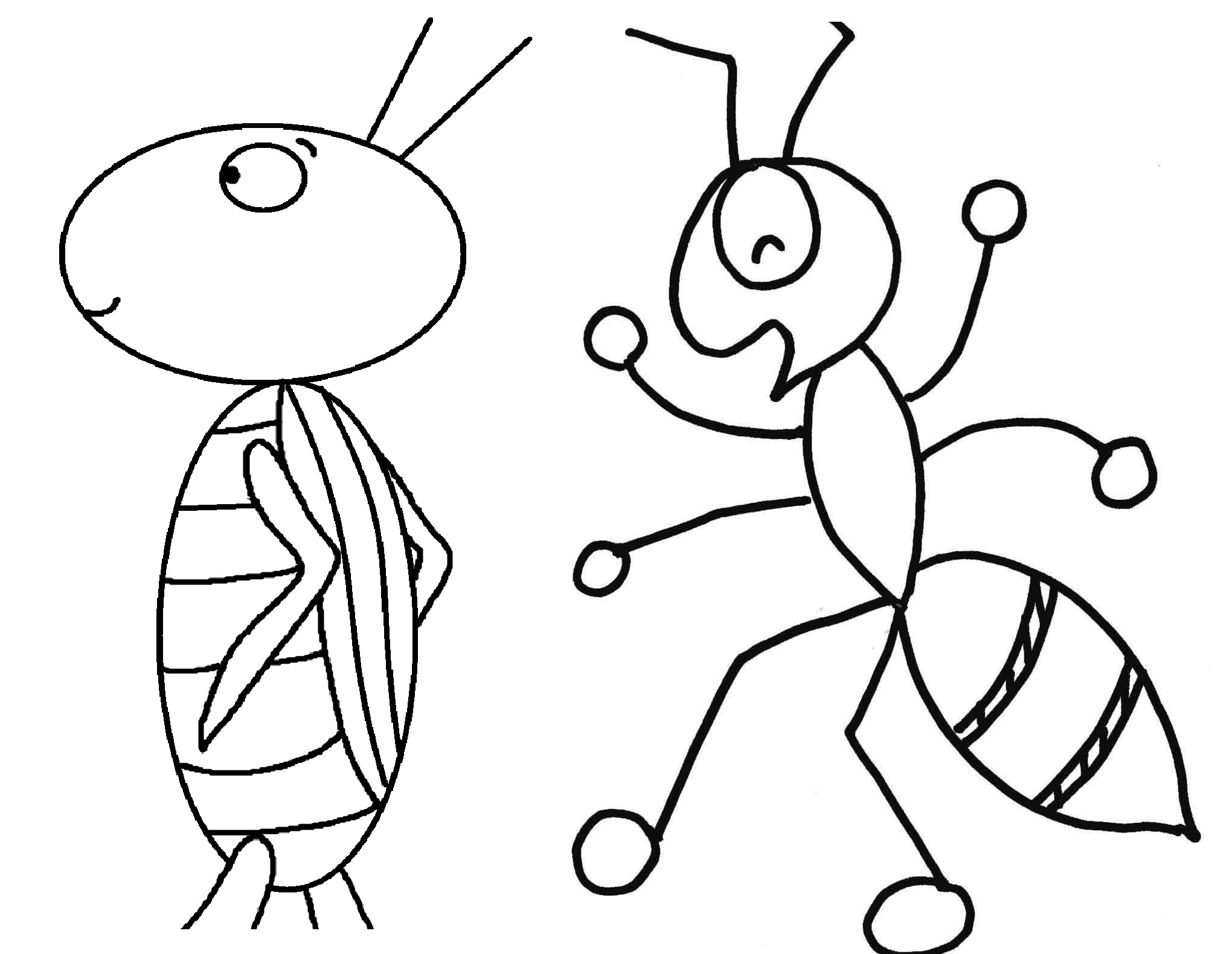 2040x1580 Ants Clipart Coloring Page