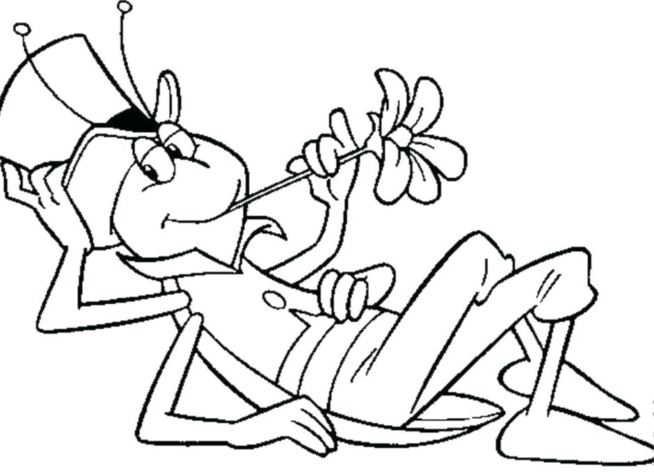 940x684 Coloring Pages For Girls Cute Grasshopper Page Picture Ant Pencil