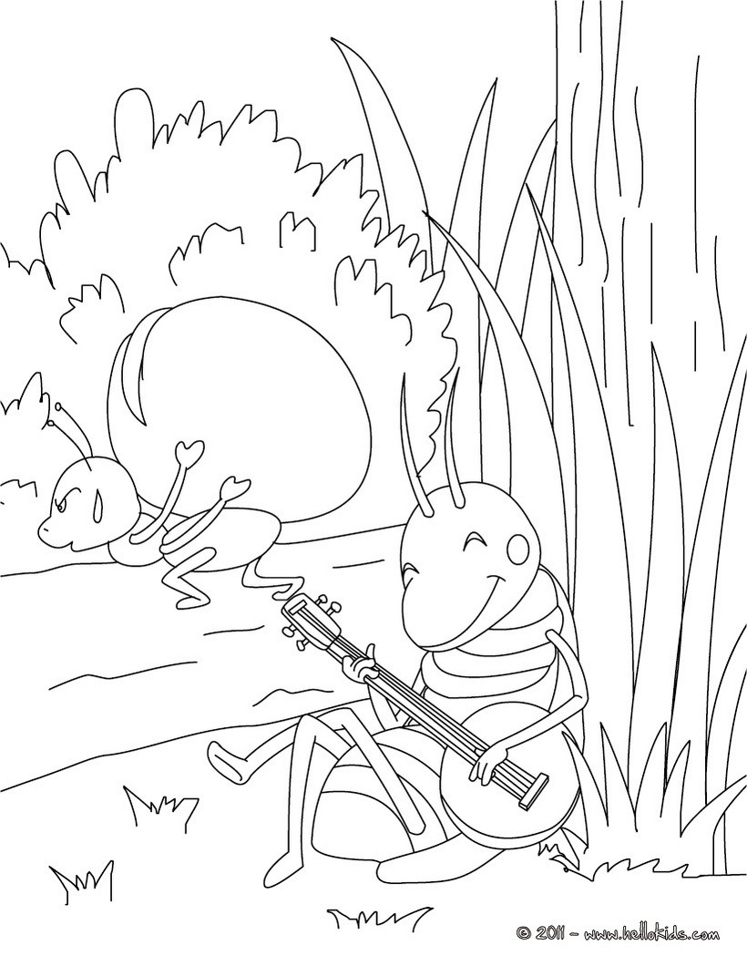 820x1060 Grasshopper Coloring Pages, Videos For Kids, Drawing For Kids