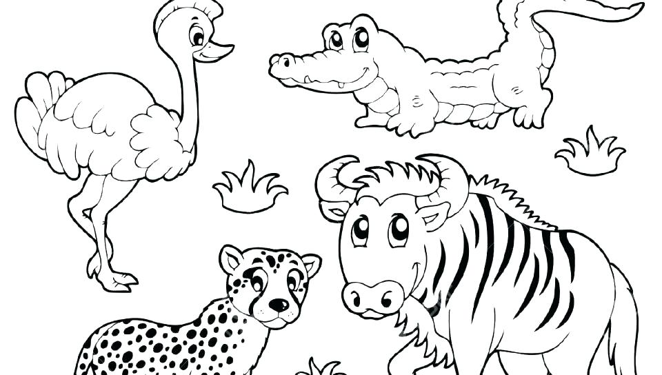 Grassland Animals Coloring Pages - Coloring Home   544x960