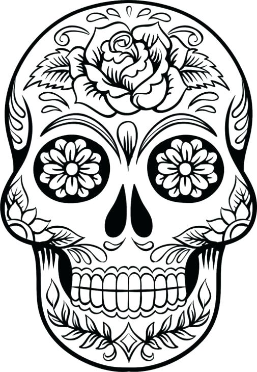 505x730 Grateful Dead Coloring Pages Coloring Home Day Of The Dead Star