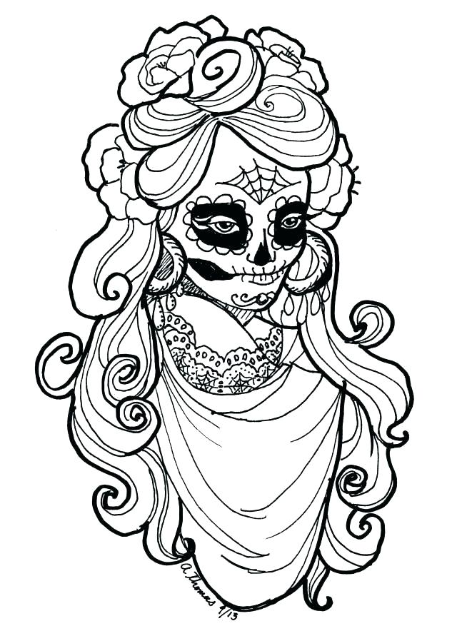 640x891 Grateful Dead Coloring Pages Day Of The Dead Coloring Pages