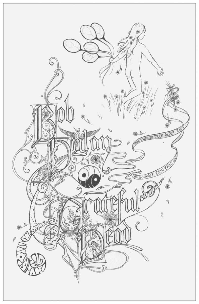805x1233 Coloring Grateful Dead Coloring Pages Free Plus Grateful Dead