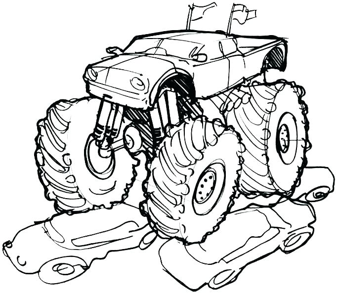 684x599 Grave Digger Coloring Pages Grave Digger Monster Truck Coloring