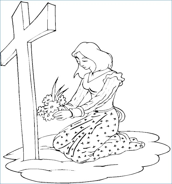 589x631 Easter Coloring Pages Jesus Tomb