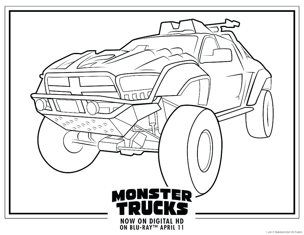 1000x773 Coloring Pages Stocking Grave Digger Monster Jam Large Size