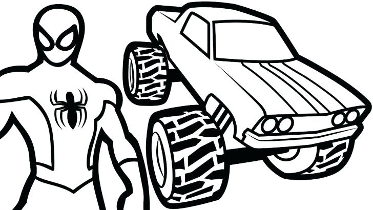 728x410 Digger Coloring Pages Medium Size Of Monster Truck Coloring Pages