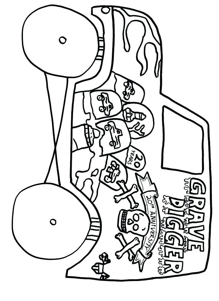744x1024 Grave Digger Coloring Pages Monster Truck Grave Digger Coloring
