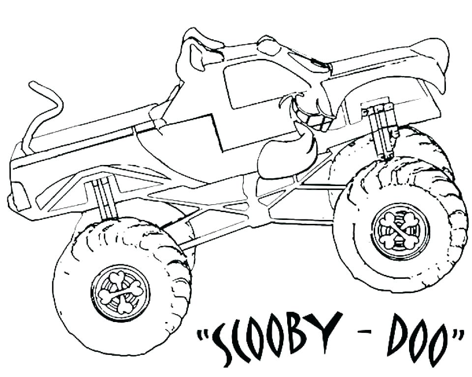 960x768 Anniversary Coloring Pages Grave Digger Coloring Page Monster