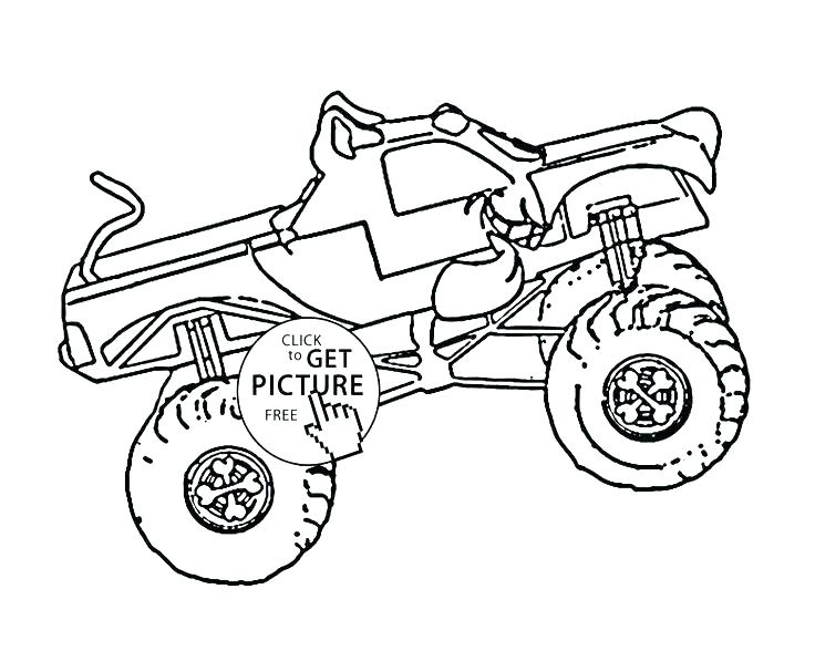 736x588 Grave Digger Coloring Page