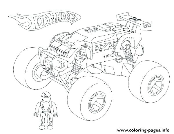 600x463 Coloring Pages Hot Wheels Grave Digger Coloring Page Monster