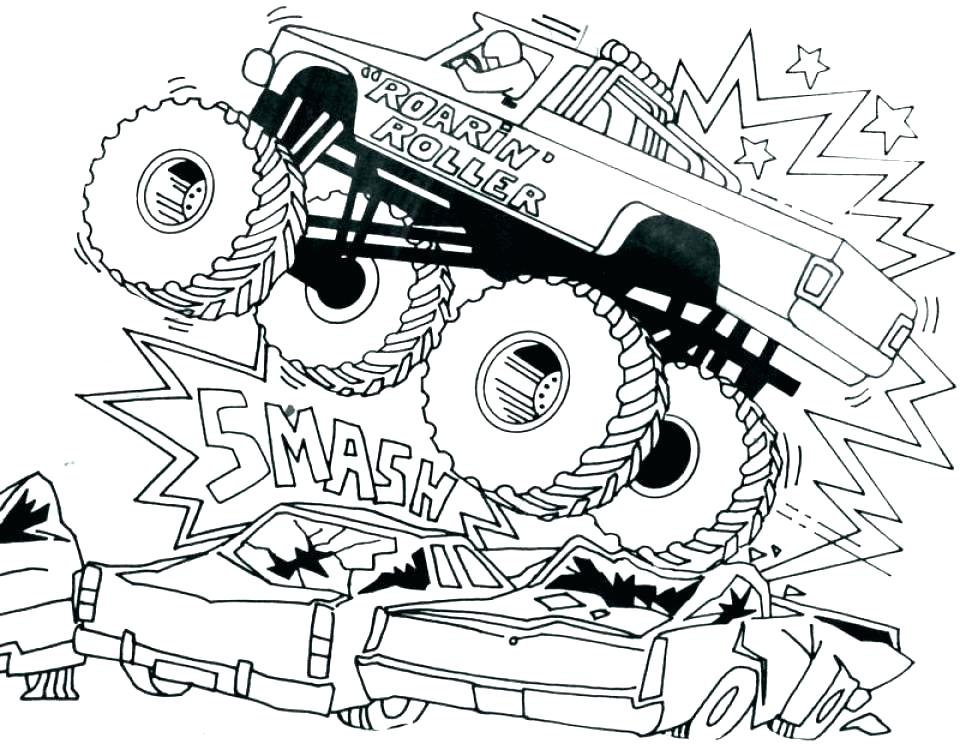 960x744 Coloring Pages Of Trucks Grave Digger Monster Truck Coloring Pages