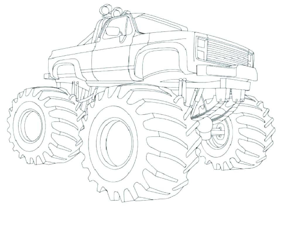 960x792 Grave Digger Coloring Page Monster Truck Coloring Page Printable