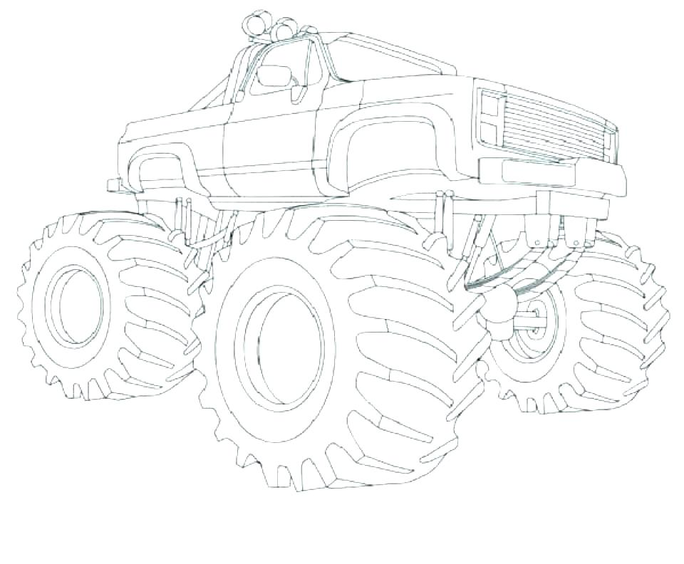 Grave Digger Monster Truck Coloring Pages At Getdrawings Free Download